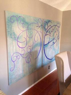 """Commissioned - 2 Panels, each 48""""x48"""""""