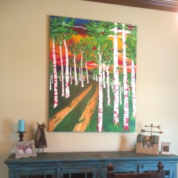 """Commissioned Piece 48""""x60"""" Acrylic on Canvas"""