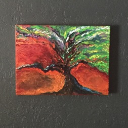 """""""Tree of Life"""" 16""""x12"""" Oil on Canvas"""
